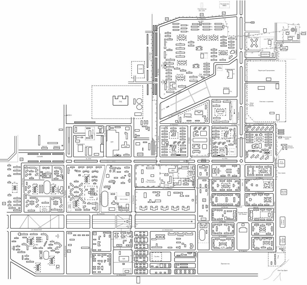 Байконур схема города